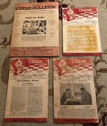 Vintage Lot Indian Chess Bulletin 1956-1969 English India Magazines Newspapers