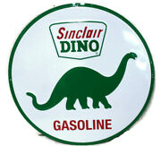 2 Large Vintage Style 24 Sinclair Dino Gas Station Signs Man Cave Garage Decor