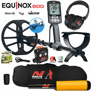 Minelab Equinox 800 Multi-iq Metal Detector W/ Pro Find 20 Pinpointer Carry Bag