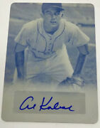 2016 Leaf Sports Heroes Al Kaline Autograph Auto Printing Plate 1/1 One Of One