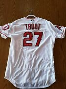 Mike Trout Los Angeles Angels Autographed Jersey Mlb Authentic 2019 Al Mvp