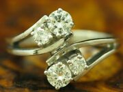 14kt 585 White Gold Ring With 082ct Brilliant Decorations/ Diamond/ 58g/ Rg 53