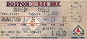 August 1 2001 Boston Red Sox Vs Angels Ticket Stub Salmon And Glaus Hr Off Nomo