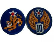 1 Set Authentic Original Wwii Us Army Air Force Patch Flying Tigers Patches