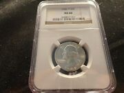 1948-d Washington Silver Quarter Ngc Ms 66- Clean And Collectible-uncirculated