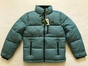 Nwt Hollister By Abercrombie Menand039s Mock Neck Puffer Jacket Coat Light Blue S M