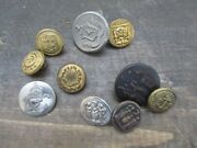 Antique Vintage Metal Buttonsandnbspnavy Marines Lot Of 10 Mixed Sizes Anchor