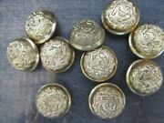 Antique Vintage Metal Buttonsandnbspnavy Marines Lot Of 10 Small Size Anchor Gold