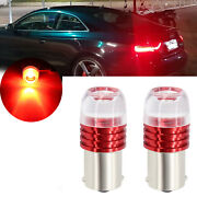 2x 1156 P21w 1141 Red Led Storbe Flashing Rv Tail Light Rear Brake Stop Bulb