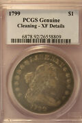 1799 Drape Bust Silver Dollar. Pcgs Ef40. Well Toned Surface.