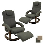 Recpro Charles 28 Rv Euro Chair Recliner Rv Furniture Fossil Cloth 2-pack