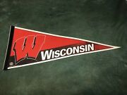 University Of Wisconsin Badgers Wincraft Ncaa Pennant Flags Wall Hanger Red
