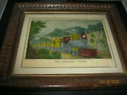 Currier And Ives Original The Express Train Nassau 152