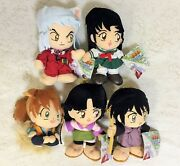 New Rare Inuyasha Mascot Plush Doll Full Set Of 5 Complete 20cm Official Japan