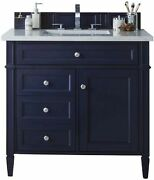 James Martin 650-v36-vbl-3clw Brittany 36 Single Vanity Victory Blue With 3...