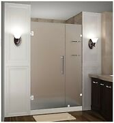 Aston Nautis Gs Completely Frameless Hinged Shower Door In Frosted Glass With...