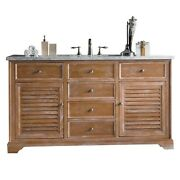 Savannah 60 Single Vanity Cabinet Driftwood With 3 Cm Charcoal Soapstone Q...