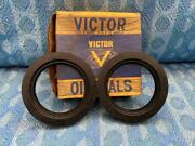1949-1955 Chrysler Dodge Desoto Plymouth Pair Of Nors Victor Front Wheel Seals