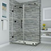 Aston Sen967ez-orb-703234-10 Bromley Frameless Hinged Shower Enclosure With S...