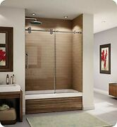 Fleurco Kt057-11-40r-c Kinetik 57 Sliding Tub Door Right And Fixed Panel In P...
