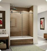 Fleurco Kt057-11-40r-b Kinetik 57 Sliding Tub Door Right And Fixed Panel In P...