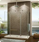 V6308-25-40-qy-79 Fleurco Evolution 6and039 Walk In Round Top Shower Enclosure Wit...
