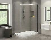 Fleurco Nabf6032-11-40l Apollo Bowfront Sliding Shower Door With Fixed And Re...