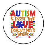 30 Autism Awareness Envelope Seals Labels Stickers Party Favors 1.5 Round