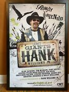 Hank Williams Jr Framed Cmt Giants - Signed By Mcgraw, Guy, Shooter, Jackson