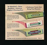 C. 1930's 40's Wrigley's Gum Juicy Fruit Samples Promo Letter Perfect Cond Tl02