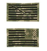 Us Navy Nwu Iii Dont Tread On Me Patch W/ Rev.flag Patch Laser Cut With Hook