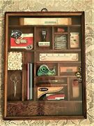 Rare Vintage Stern Brothers Shadow Box Office Supplies Wall Hanging