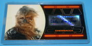 Star Wars Topps Esb 3d Widevision Chewbacca Autograph Card 125