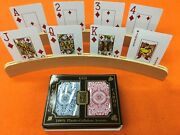 Kem Playing Cards Jumbo Index With 2 Wood Holders.