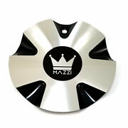 Mazzi Gloss Black Machined Wheel Center Hub Cap 6-3/4od Aluminum For 337