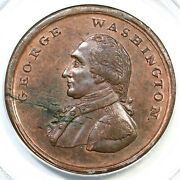 Pcgs Ms 62 Rb Liberty And Security Washington Penny Colonial Copper Coin