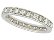 Vintage 1960s 0.68ct Diamond And 18ct White Gold Full Eternity Ring - Size 5.5