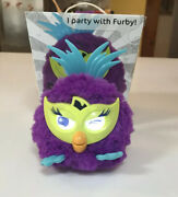 2012 Furby Party Rockers Fussby Purple Green Prism Cat Eye Interactive Hasbro