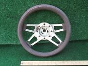 Vintage Auto Steering Wheel 3 Dished Unique Spoke Design From '57 Sports Racer