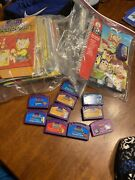 Lot Of 11 Leap Frog Learning Games Cartridges And Books Reading Math Science +++