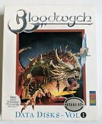 Atari Bloodwych Extended Levels Expansion Data Disks Box Vol 1 1040 St Game