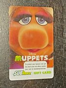 2014 Subway Canada The Muppets Miss Piggy Collectible Gift Card Fr/eng 316