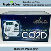 Grozone Co2d 0-5000 Ppm Dual Zone Co2 Controller Hydroponics Grow Room