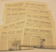 Lot Of 10 Antique 1923-1924 The Girls Weekly Newspaper Nashville Tennessee