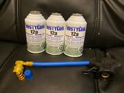 3 Cans 12a Refrigerant 3 Cans R12 Replacement With Hose Tap + Low Side Adapter