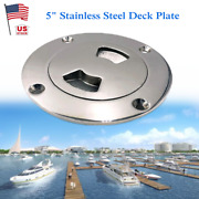 5 316 Stainless Steel Deck Cover Cabin Plate Disc Floor Access Port Boat Yacht