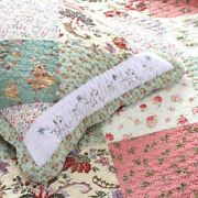 New Cozy Cottage Chic Patchwork Shabby Cozy Pink Red White Blue Rose Quilt Set