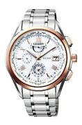 Citizen Exceed Eco-drive Radio Montre Double Direct Vol At9114-57a