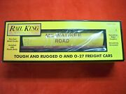 New Rail King By Mth O And 0-27 30-75155 Milwaukee Rd 4-bay Cylindrical Hopper