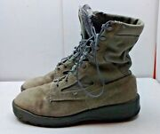 Wellco Air Force Tw Men's Leather Desert Gray Ankle Boots Uniform Work Shoes 11w